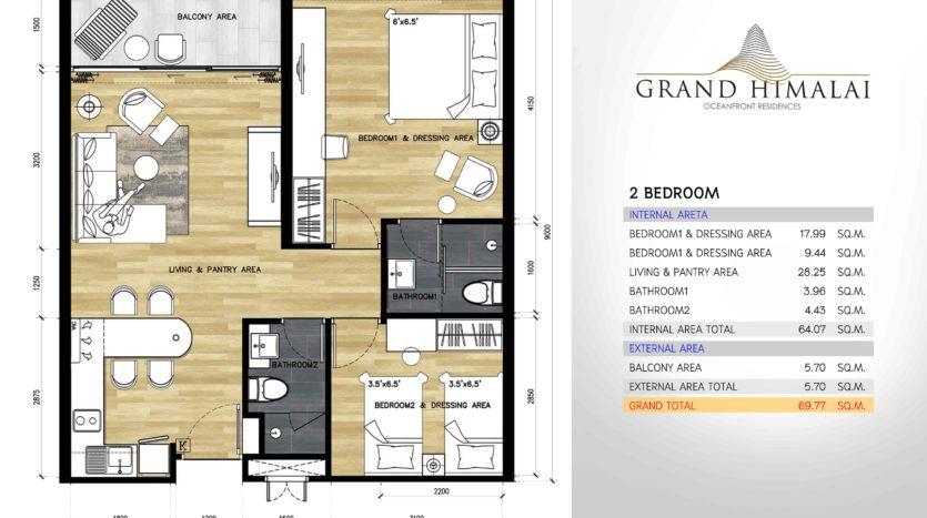 Планировка квартиры на Пхукете