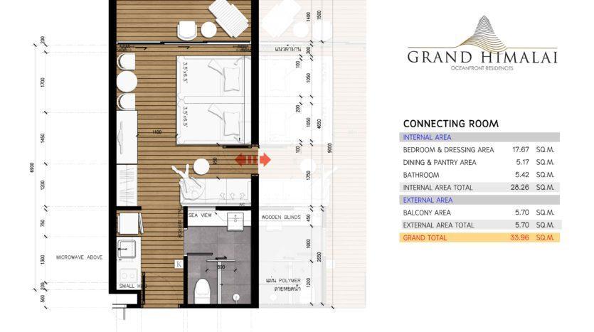 Планировка квартиры студии на Пхукете